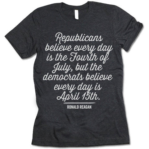 Democrats Believe Every Day Is April 15th Shirt