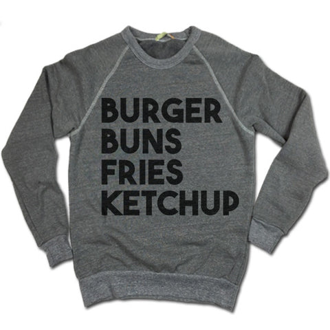 Burger Buns Fries Ketchup UNISEX Sweater
