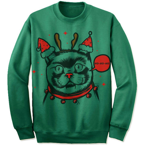 Weird Cat Christmas Sweater