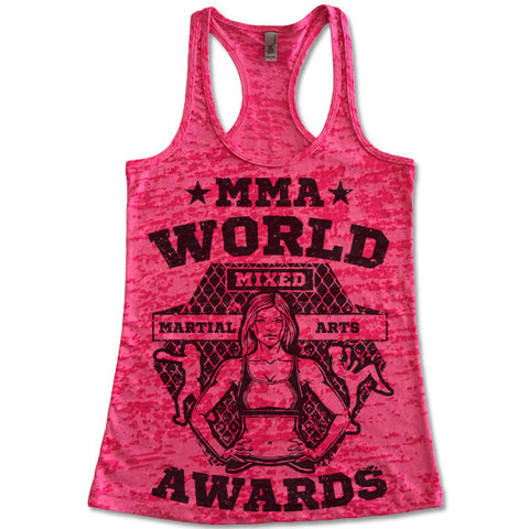 Women's MMA Burnout Tank Top
