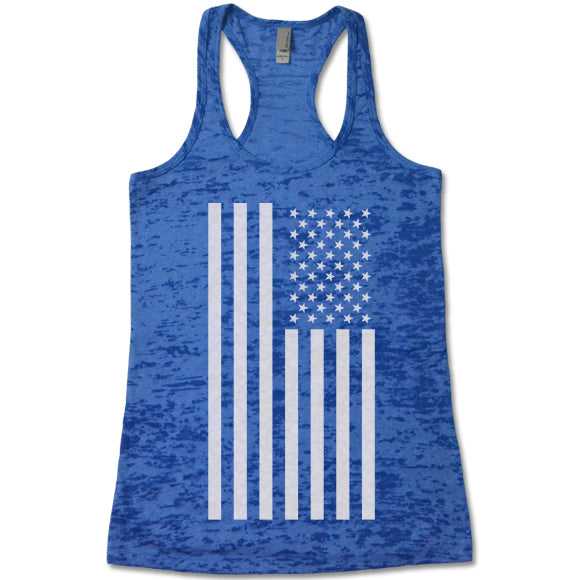 American Flag Burnout Tank Top