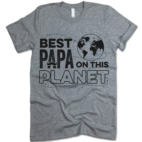 Best Papa On The Planet Shirt
