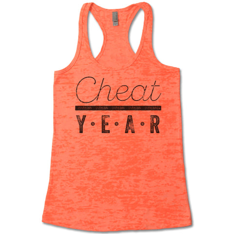 Cheat Year - Racerback Burnout Tank Top