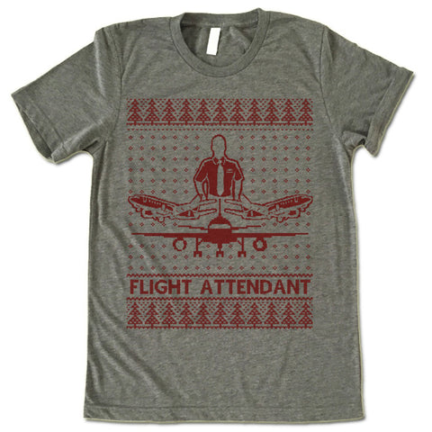 Flight Attendant Christmas T Shirt