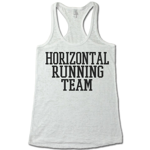 Horizontal Running Team - Racerback Burnout Tank Top