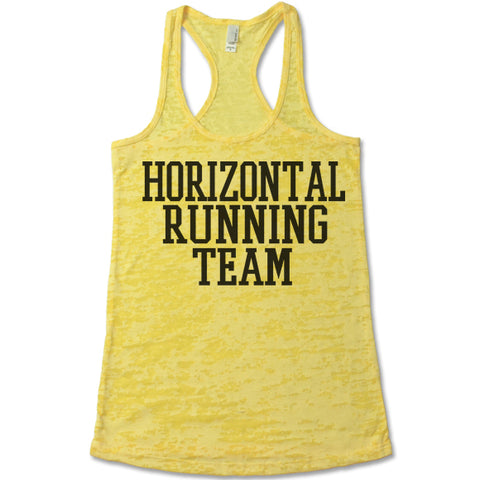Horizontal Running Team  Racerback Tank Top