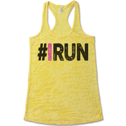 IRun - Racerback Burnout Tank Top