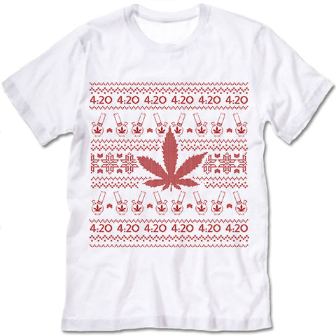Marijuana Christmas T Shirt