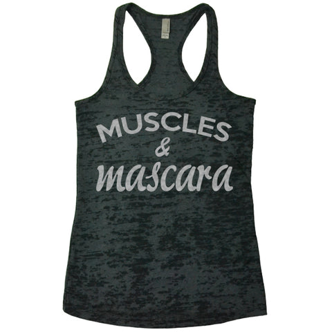 Muscles and Mascara - Racerback Burnout Tank Top