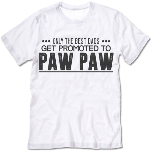 Only The Great Dads Get Promoted To Paw Paw T Shirt
