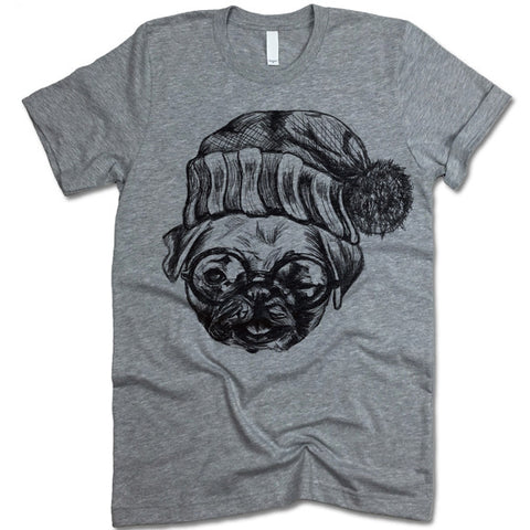 Pug In A Hat T Shirt