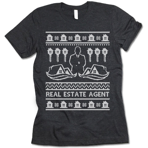 Real Estate Agent Christmas T-Shirt