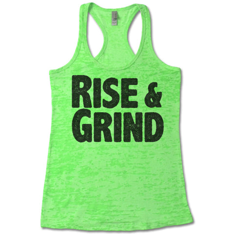 Rise And Grind Burnout Tank Top