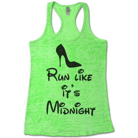 Run Like It's Midnight - Racerback Burnout Tank Top