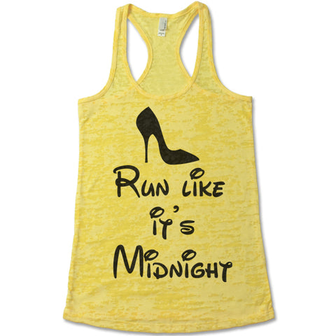 Run Like It's Midnight Burnout Tank Top