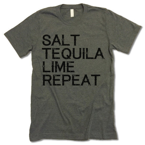 Salt Tequila Lime Repeat Shirt