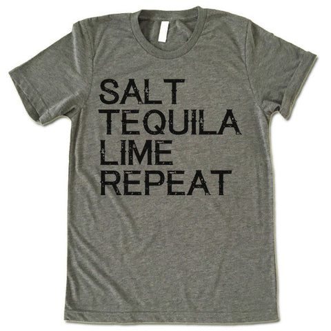 Salt Tequila Lime Repeat T Shirt