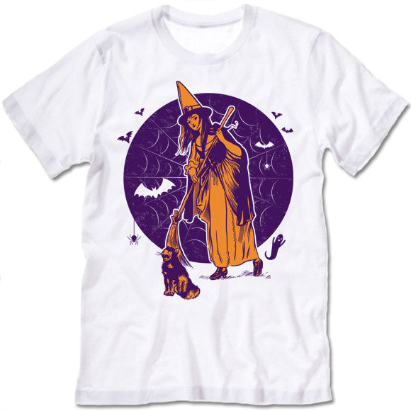 The Witches Broom Halloween T-Shirt