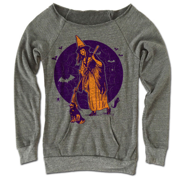 The Witches Broom Off Shoulder Sweater