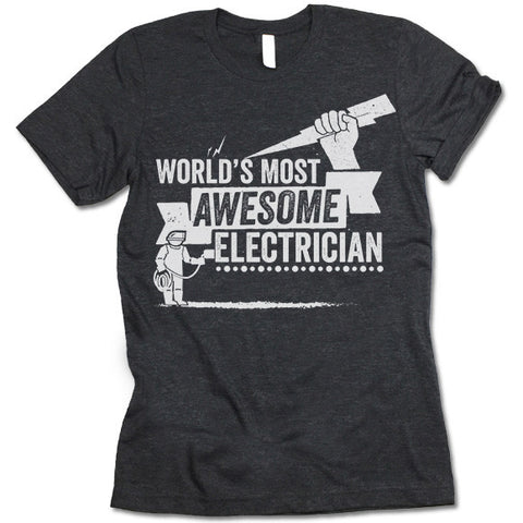 funny electrician t shirts