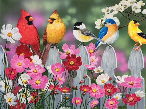 Puzzle - Songbirds & Cosmos 500 Pieces - SunsOut - Jules Enchanting Gifts