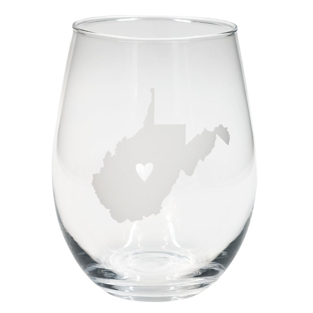 West Virginia Stemless Wine Glasses - Set of 2