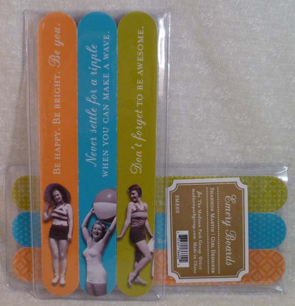 Make a Wave 3Pk Emery Board Set - Shannon Martin - Jules Enchanting Gifts