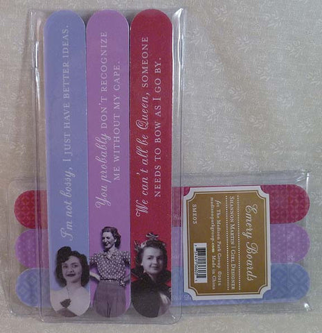 Without my Cape 3Pk Emery Board Set - Shannon Martin - Jules Enchanting Gifts