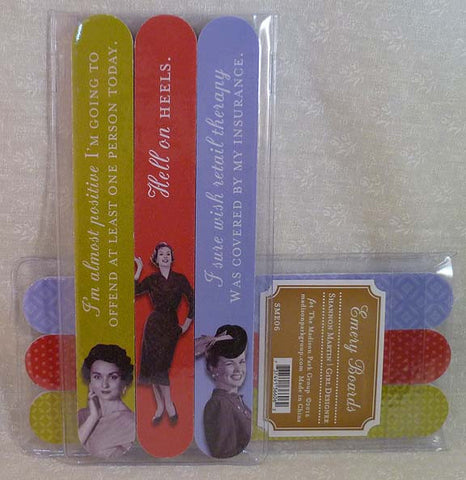 Hell on Heels 3Pk Emery Board Set - Shannon Martin - Jules Enchanting Gifts
