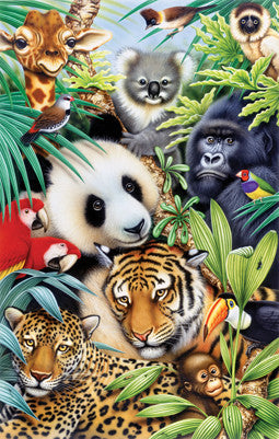 Puzzle - Animal Magic 100 Pieces - SunsOut - Jules Enchanting Gifts