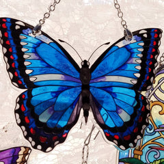 Amia Studios - Water-Cut Small Butterfly Blue Morpho
