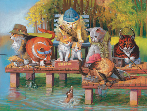 Puzzle - Fishing on the Dock 300 Pieces