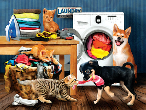 Puzzle - Laundry Room Laughs 300 Pieces
