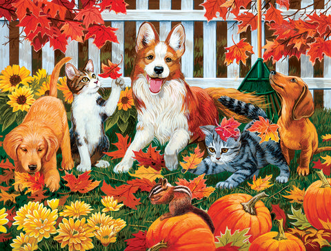 Puzzle - Collecting Fall Leaves 500 Pieces