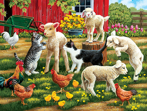 Puzzle - Lambs on the Loose 300 Pieces