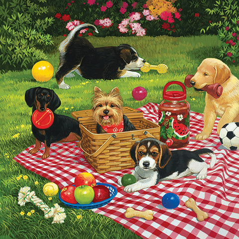 Puzzle - Puppies Take Over 500 Pieces