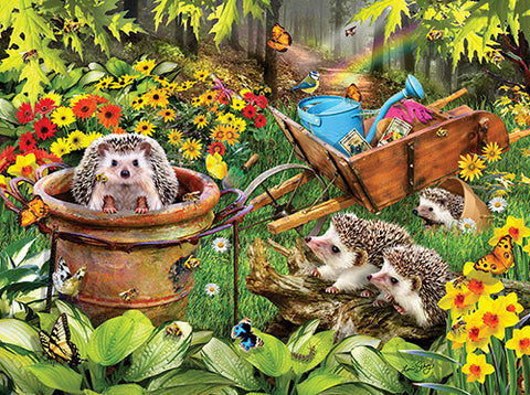 Puzzle - Hedgehogs and Bees 300 Pieces