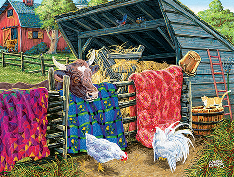Puzzle - Quilt Cow 300 Pieces