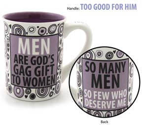Men are God's Gag Gift Mug - Our Name is Mud - Jules Enchanting Gifts