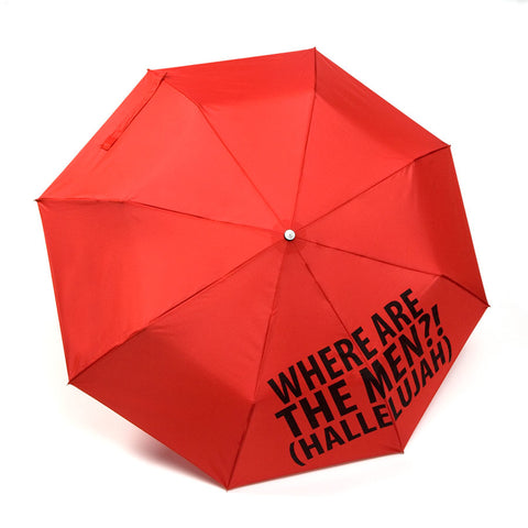Red Umbrella - Where are the Men? - Our Name is Mud - Jules Enchanting Gifts