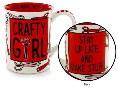 Crafty Girl Mug - Our Name is Mud - Jules Enchanting Gifts
