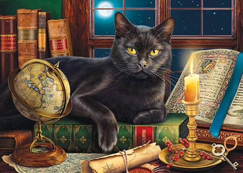 Puzzle - Black Cat by Candlelight 500+ Pieces