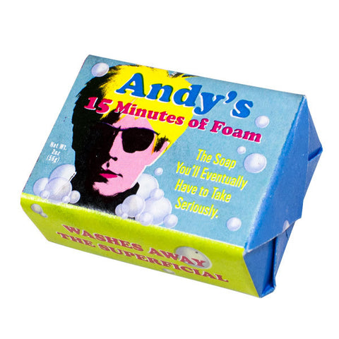 Andy Warhol's 15 Minutes of Foam Soap - Unemployed Philosophers Guild - Jules Enchanting Gifts
