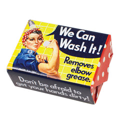 We Can Wash It - Rosie the Riveter Soap - Unemployed Philosophers Guild - Jules Enchanting Gifts