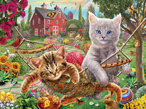 Puzzle - Cats on the Farm 300 Pieces