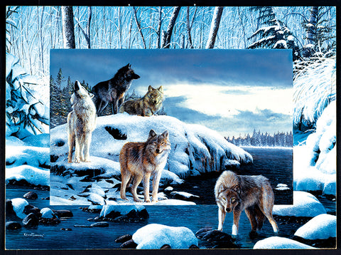 Puzzle - Ice Wolves 1000 Pieces