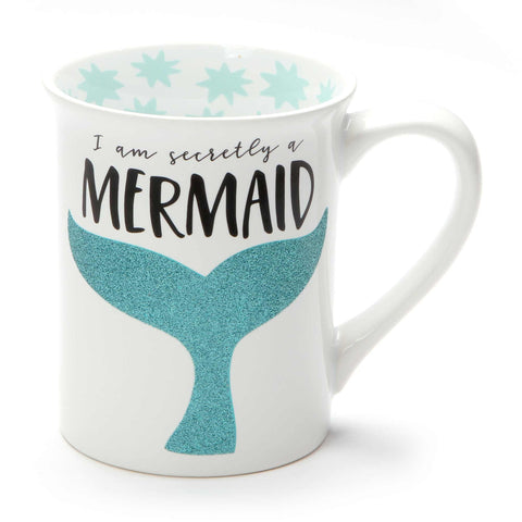 Secretly a Mermaid Glitter Mug