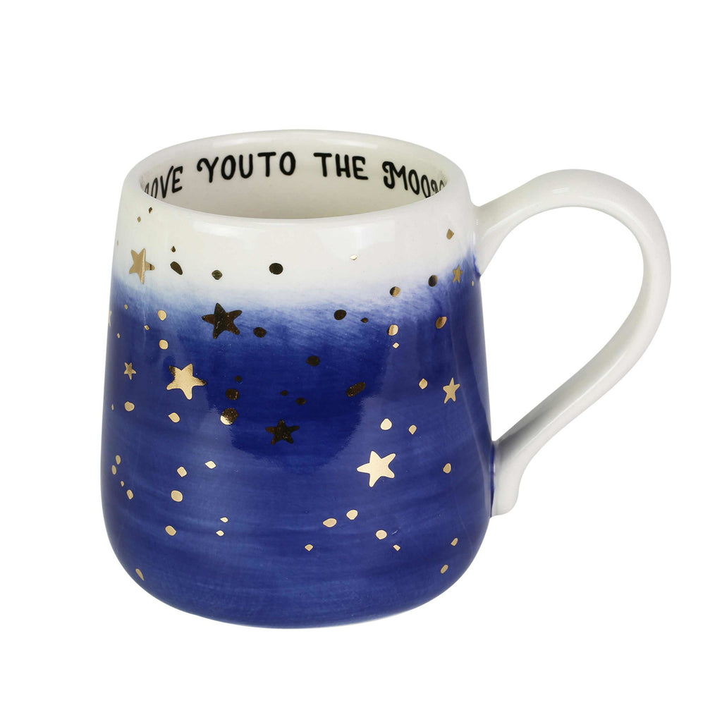 Gold Star Love You to the Moon Mug