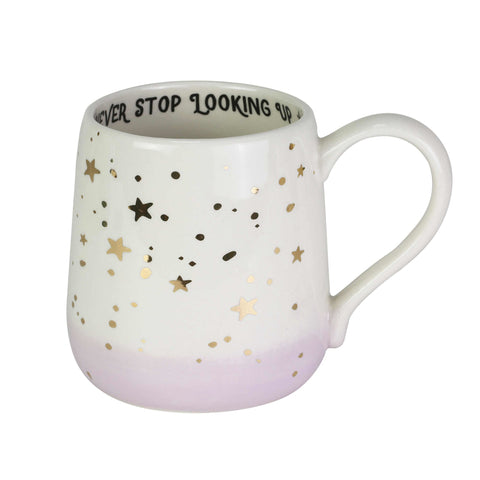 Gold Star Never Stop Looking Up Mug