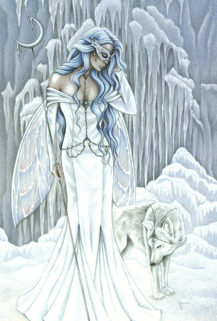 Tempest of Ice - 5 x 7 Fairy Art Print